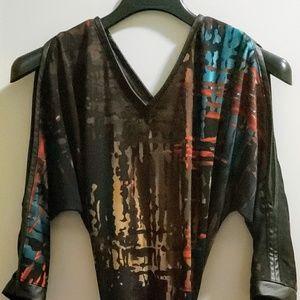 Multi color patterns dress